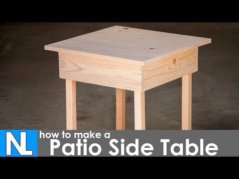 Making A Patio Side Table DIY Woodworking Simple