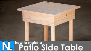 How to make a simple patio end table. Small table for patio. Easy build for a small outdoor table. Based off of a design in Hand-Built