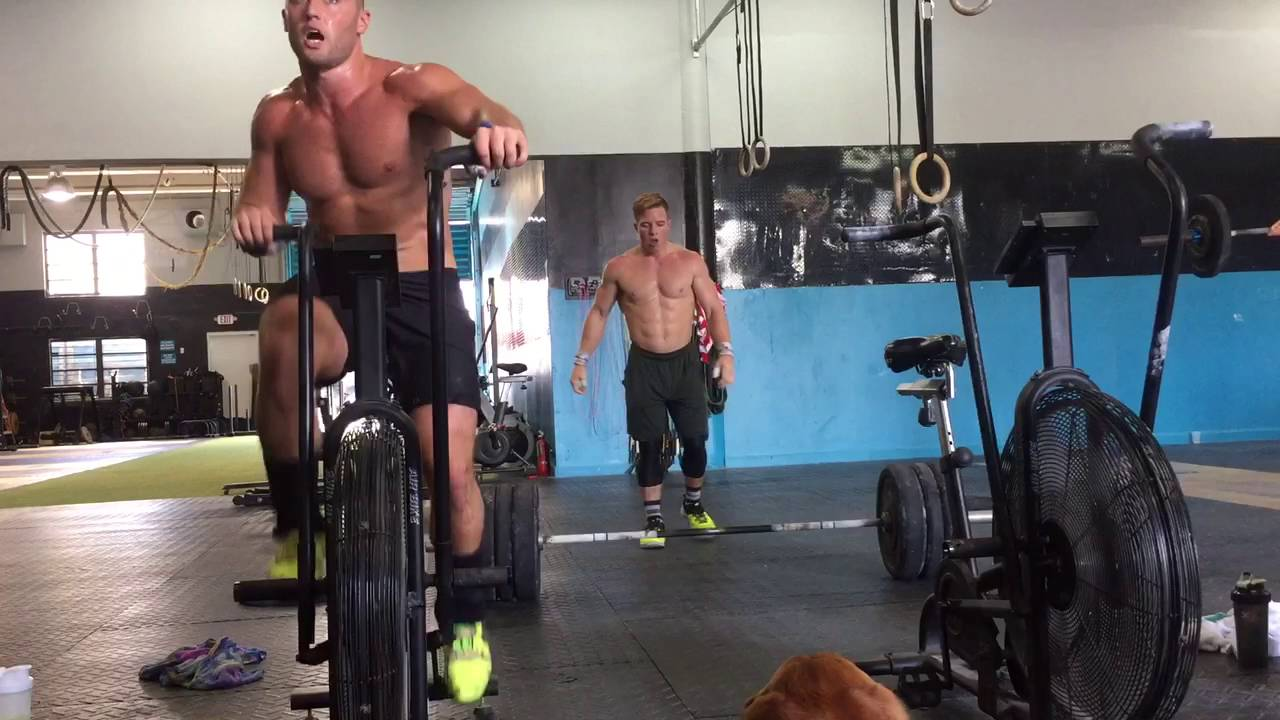 Assault bike power cleans youtube