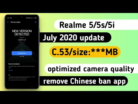 Realme 5/5s/5i July 2020 update rolling out C.53 optimized camera & remove Chinese app |Anu tech 😍 from YouTube · Duration:  3 minutes 19 seconds