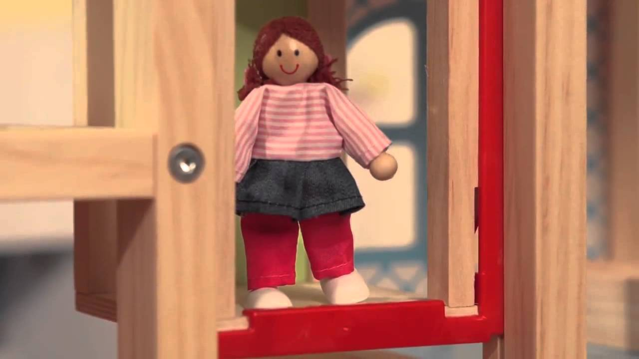 Melissa U0026 Doug Hi Rise Doll House U0026 Furniture Set   YouTube