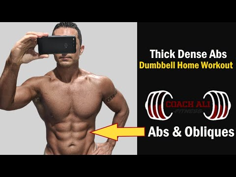 dumbbell abs  obliques workout at home for dense six pack