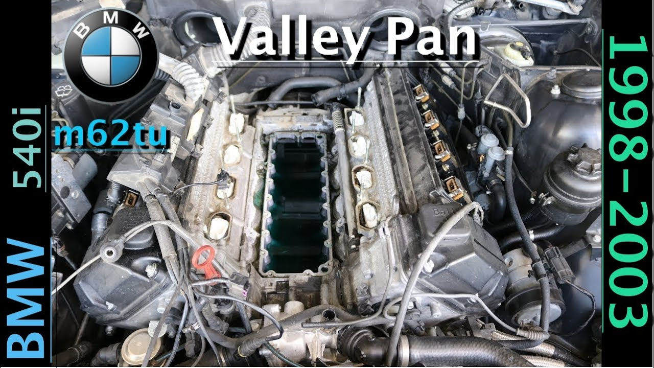 540i cooling system diagram how to replace valley pan gasket on bmw v8 engine m62tu  how to replace valley pan gasket on bmw v8 engine m62tu