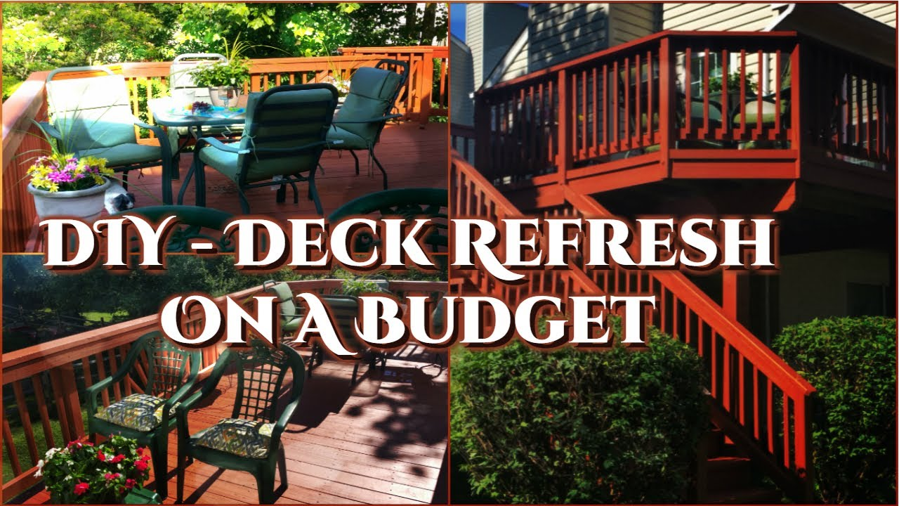 creative glam diy deck refresh on a budget youtube