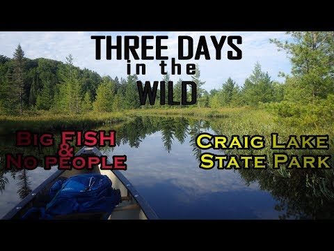THREE DAYS in the WILD - Craig Lake State Park - Fishing & Camping in remote Upper Peninsula