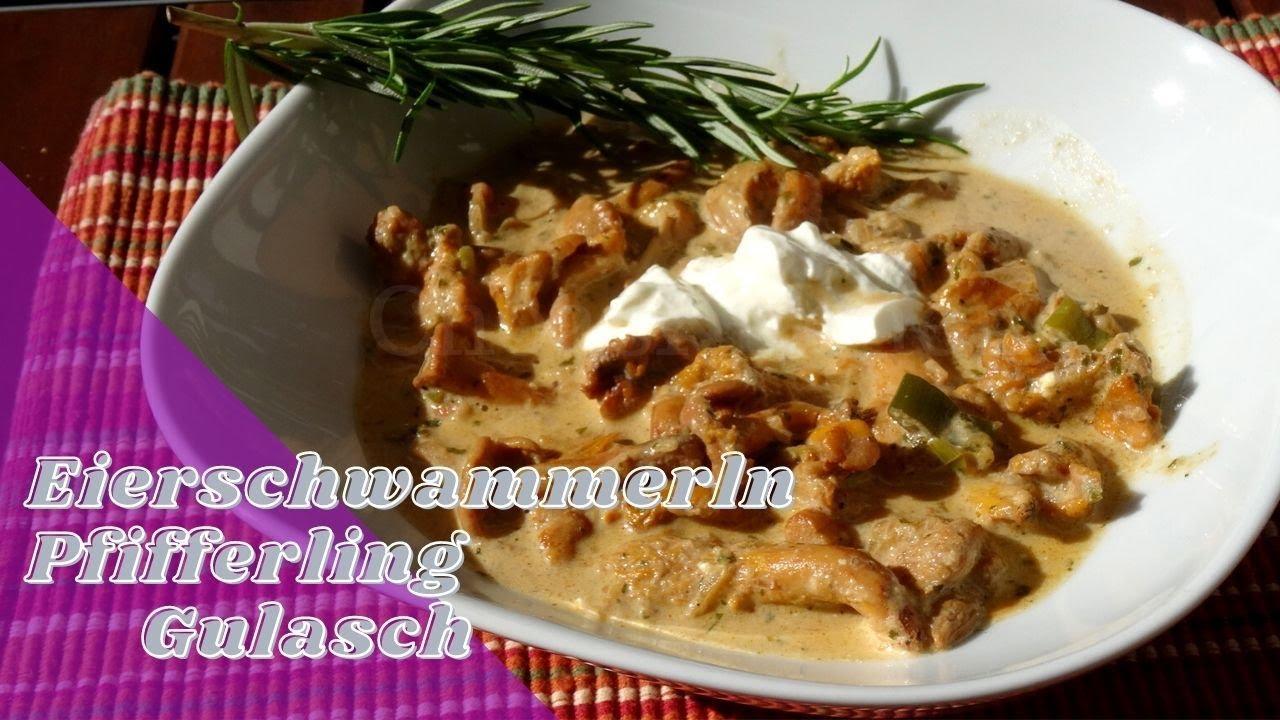 Spätsommer  Pfifferling Gulasch - ein Spätsommer Pilz Rezept, schnell lecker ...