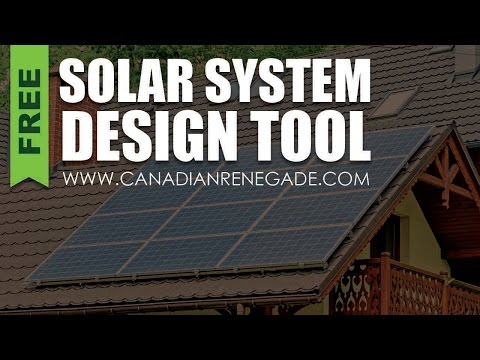 Handy Solar System Design Tool Pvwatts Youtube