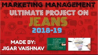 MARKETING MANAGEMENT PROJECT ON JEANS (cbse class 12th)