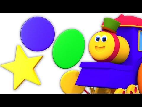 Bob Formas Diversão Série | Crianças Aprendendo Vídeo | Bob Train Songs | Shapes Fun Series