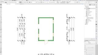ArchiCAD 20 - Автоматическая простановка размеров / Automatic Dimensioning
