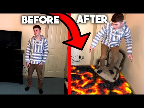 MAKE THE GROUND TURN INTO LAVA TRICK! ( Wtf it actually works )
