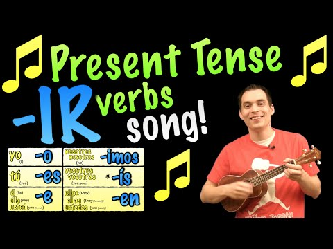 Present Tense -IR Verbs Made Easy with a Song in Spanish!