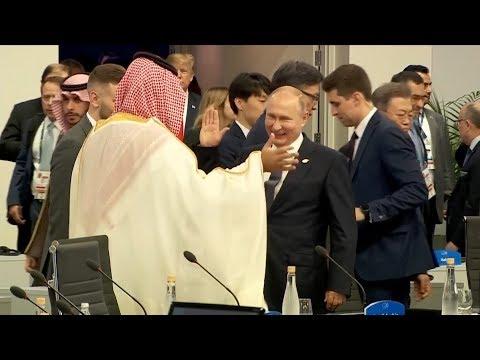 Putin high-fives Saudi Crown Prince at G20