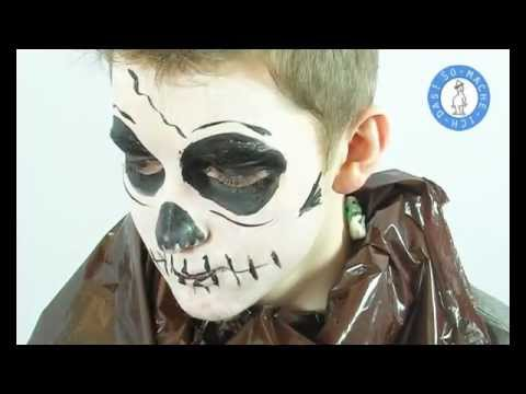 halloween make up totenkopf schminken youtube. Black Bedroom Furniture Sets. Home Design Ideas