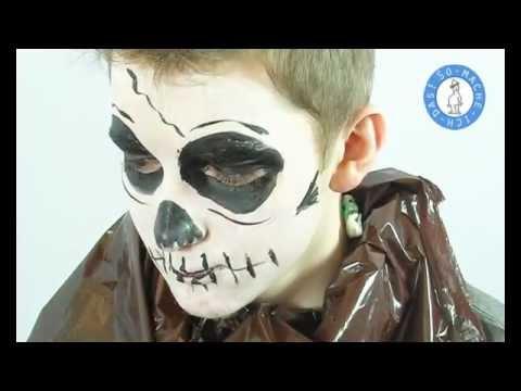 Halloween Make Up Totenkopf Schminken