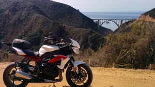Old Coast Road & Bixby Bridge - Big Sur - Triumph Street Triple R