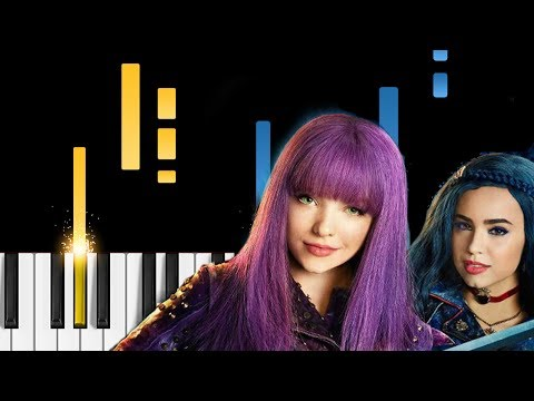 Descendants 2 - Rather Be With You - Piano Tutorial - Disney's Descendants 2 OST