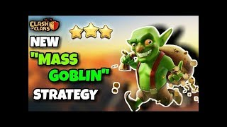 GOBLINS GET INSANE LOOT! - TH9 Farming with 220 Goblins -No Heros- Clash of Clans - Fast & Easy Loot