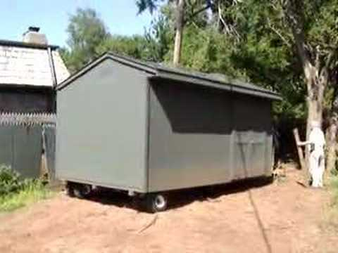 How To Move A Storage Shed Youtube