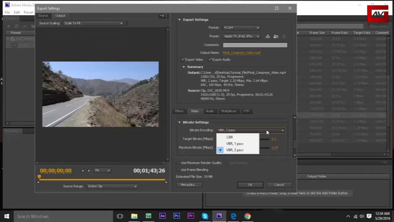 How to convert and compress video using Adobe Media Encoder