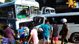 Two foreign nationals injured after a van collided with a bus - Hiru News