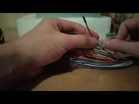 Подключение ГУ на столе и распиновка проводов