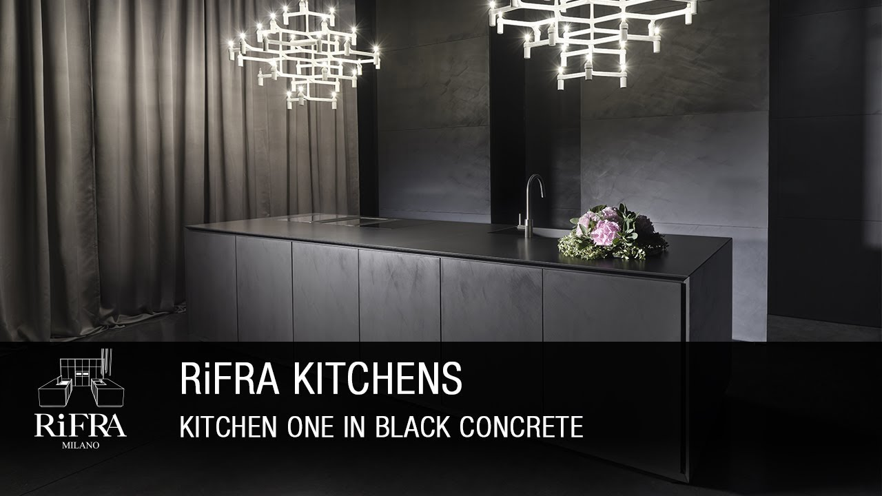 RiFRA Kitchen ONE 2017 in Black Cement. - YouTube