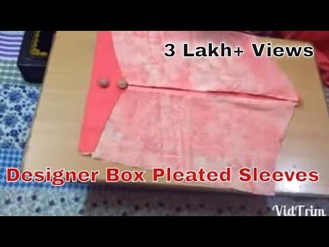 Designer Box Pleated Sleeves ( Baju) for Kurti in /Hindi /Sara/ DIY