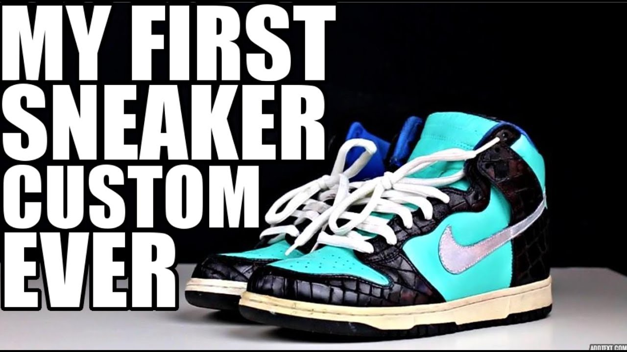 b4def938443c HOW I STARTED YOUTUBE  CUSTOMIZING SNEAKERS !!! - YouTube