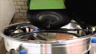 ホイール修理 アルマイトホイール 鏡面仕上げ 半自動バフ機