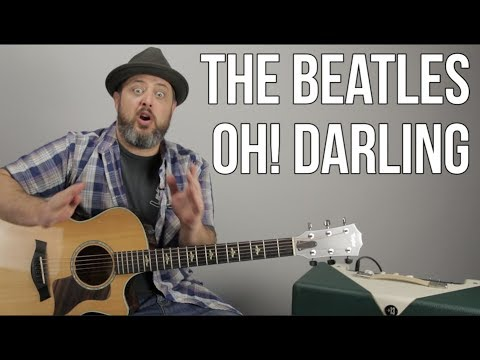 The Beatles Oh! Darling Guitar Less  How to Play, Tutorial