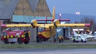 Flying Fire Engine & Ambulance Bombadier CL-415 C-GWEQ @ Blackpool Airport 2013