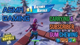ASMR Gaming | Fortnite Carrying A Subscriber Relaxing Gum Chewing 🎮Controller Sounds + Whispering😴💤