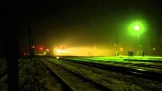 Luboml.  Mystic Nights. Volyn, Ukraine, Europe./ Любомль. Містика ночі.(Пам'ятна зима 2012/2013 років... Впало трохи снігу, і ніч перетворилася у феєричну містерію. Тепло підморгують..., 2015-03-18T06:37:08.000Z)
