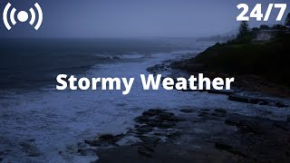 Stormy Sea Thunderstorm Sounds | Ocean Waves, Heavy Rain & Rolling Thunder Sounds for Sleeping