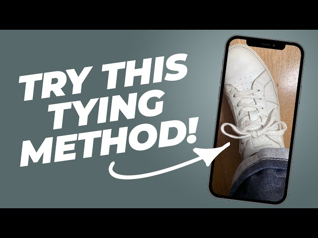 The BEST Way To Tie Your Shoelaces (they don't come untied) #Shorts • Effortless Gent