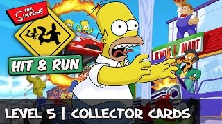 The Simpsons Hit and Run - Level 5 Collector Cards