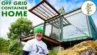 Video Man Builds Stunning Off Grid Shipping Container Home on Mountain Top download MP3, 3GP, MP4, WEBM, AVI, FLV Maret 2018