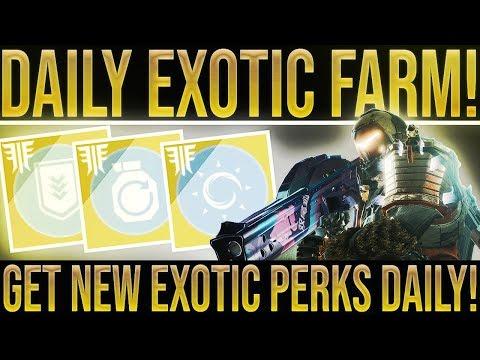 "Destiny 2. EASY DAILY ""NEW PERKS"" EXOTIC FARM!? Get 3 Exotics Per Day W/ The New Perk System! - 동영상"