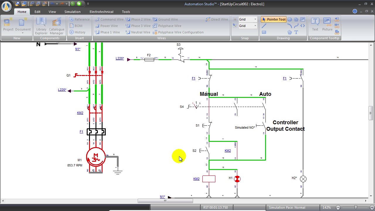 A Simple Circuit for Motor Control with Selector Switch on studio lighting diagrams, studio layouts, studio floor plans, studio wiring labels, studio software, studio lights diagrams,