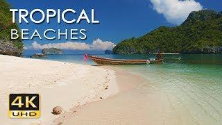 4K Tropical Beaches  - Thailand - Relaxing Sea/ Ocean Sounds - Sunrise & Sunset - Ultra HD Video