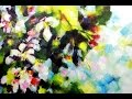 How to paint Abstract Flower Blossoms in