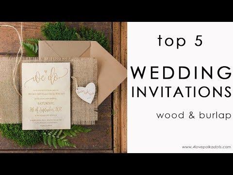 Top 5 rustic invitations