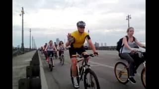 Колонна Днепровского района -  вело-день 2016 . Часть 2