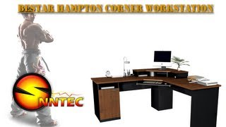 Computer Desk BESTAR Hampton Corner Workstation review By SNNTEC