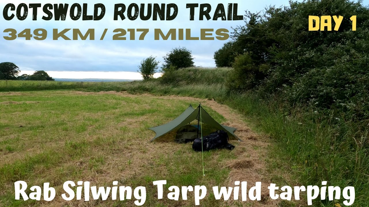 1 Cotswold Round long distance hiking trail. Wild camping in Rab Silwing Tarp and OEX Bush Pro Bivvi