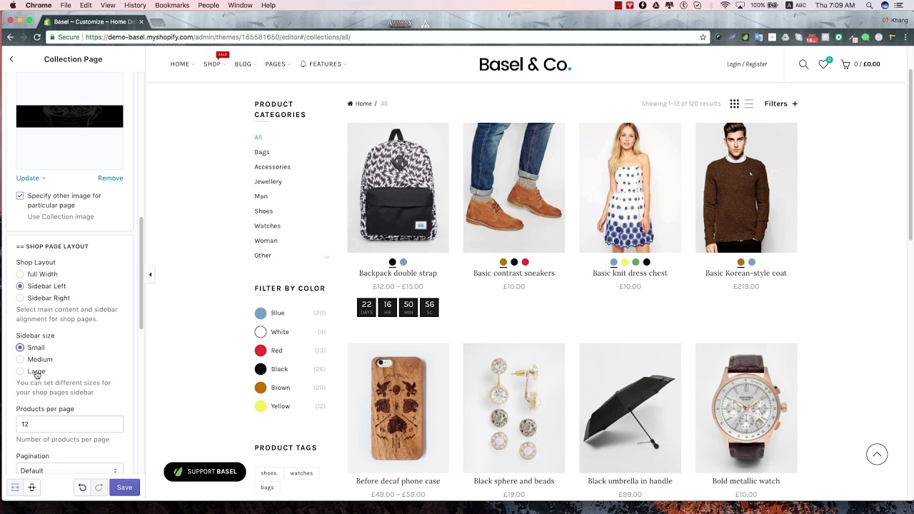 Basel Shopify Change Collection Layout And Product Zoom Effect - Shopify product page template