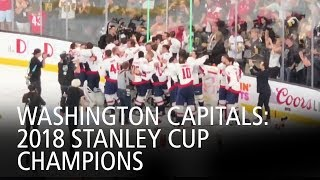Capitals Celebrate After Last Faceoff Of 2018 Stanley Cup Final