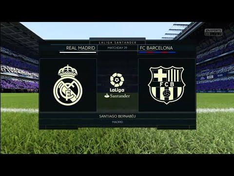 FIFA 18 | LaLiga Santander | Real Madrid v FC Barcelona | Santiago Bernabéu