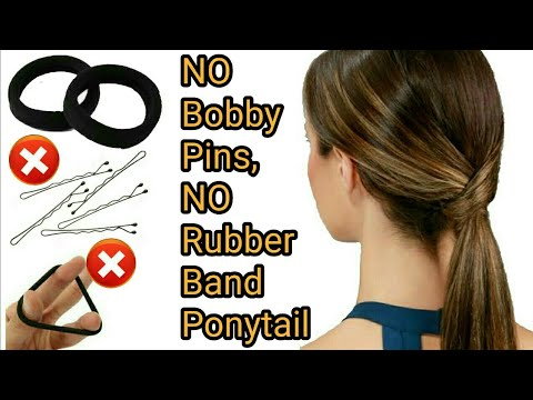 Trick No Rubber Band No Bobby Pins Ponytail Perfect Ponytail Making Stylopedia Youtube